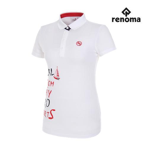 [레노마골프]여성 레터링 반팔 티셔츠 RWTPG6192-100_G