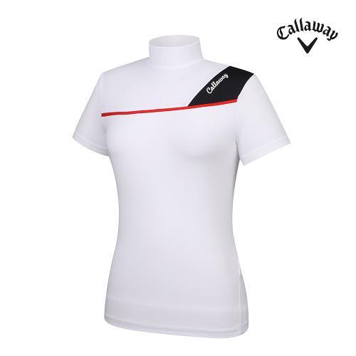 [캘러웨이]21SS 여성 냉감 하이넥 반팔 티셔츠 CWTHK6345-100_G