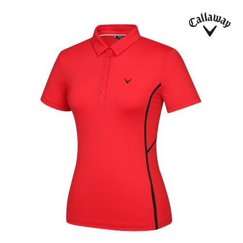 [캘러웨이]21SS 여성 원포인트 카라 반팔 티셔츠 CWTYK6141-500_G