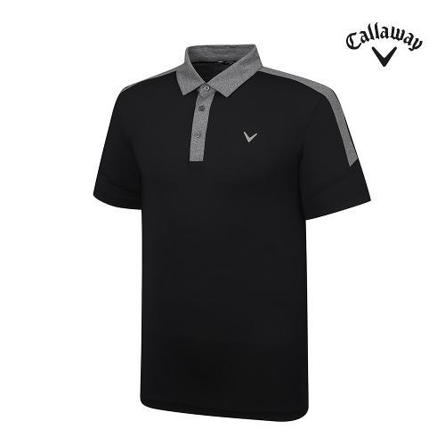 [캘러웨이]기획 남성 배색 카라 반팔 티셔츠 CMTYJ2453-199_G