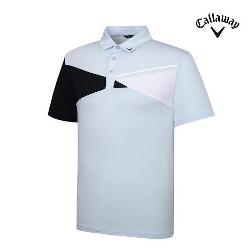 [캘러웨이]기획 남성 사선 배색 반팔 티셔츠 CMTYJ2452-906_G