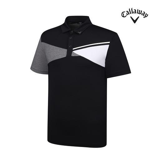 [캘러웨이]기획 남성 사선 배색 반팔 티셔츠 CMTYJ2452-199_G