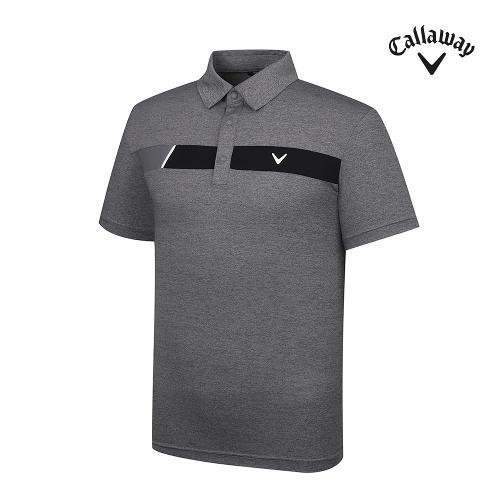 [캘러웨이]기획 남성 배색 포인트 반팔 티셔츠 CMTYJ2445-193_G