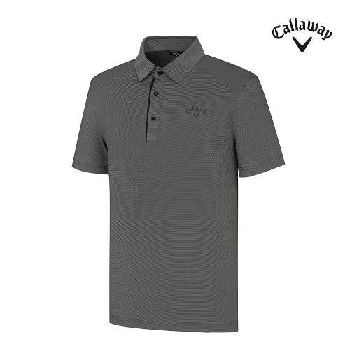 [캘러웨이]21SS 남성 잔패턴 카라 반팔 티셔츠 CMTYK2273-199_G
