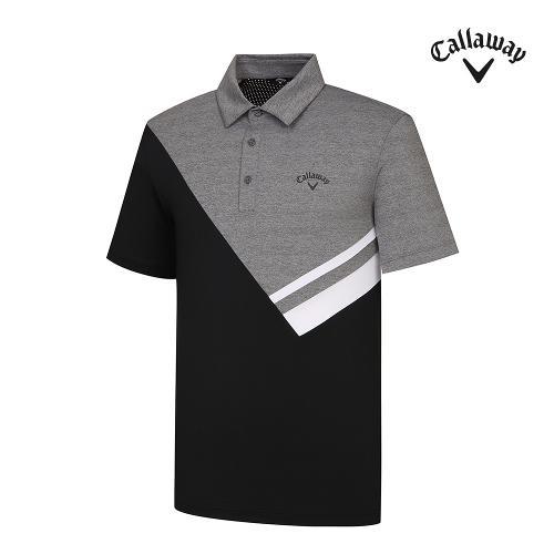 [캘러웨이]기획 남성 컬러 블럭 카라 반팔 티셔츠 CMTYJ2454-193_G