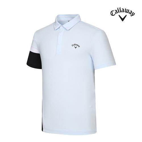 [캘러웨이]기획 남성 컬러블럭 카라 반팔 티셔츠 CMTYJ2443-906_G