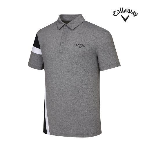 [캘러웨이]기획 남성 컬러블럭 카라 반팔 티셔츠 CMTYJ2443-193_G