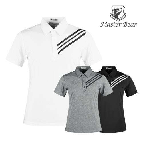 마스터베어 남성 반팔 골프 카라셔츠 AE1M406