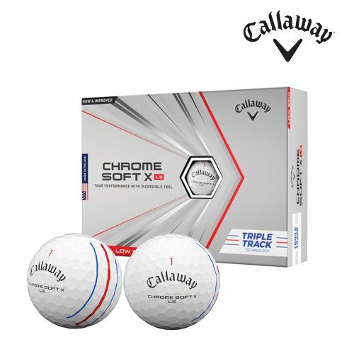 캘러웨이 2021 크롬소프트X LS 트리플트랙 골프공 4피스 1더즌 12알