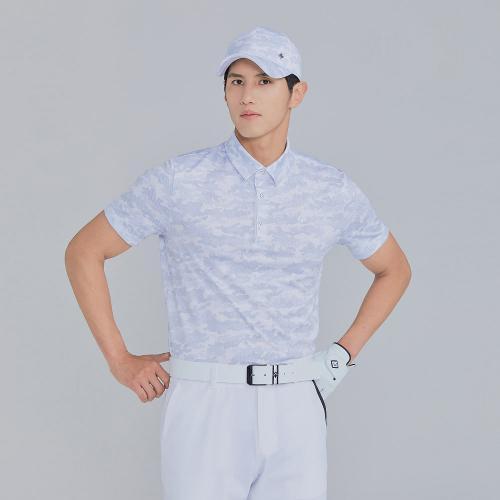 [레노마골프]21SS 남성 카모플라쥬 카라 반팔 티셔츠 RMTYK2179-196_G