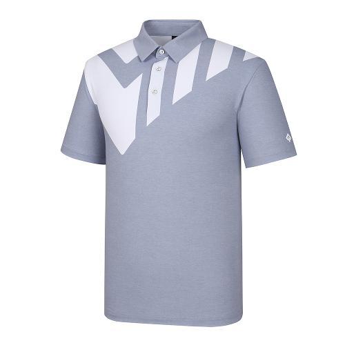 [레노마골프]21SS 남성 로고 배색 카라 반팔 티셔츠 RMTYK2177-197_G