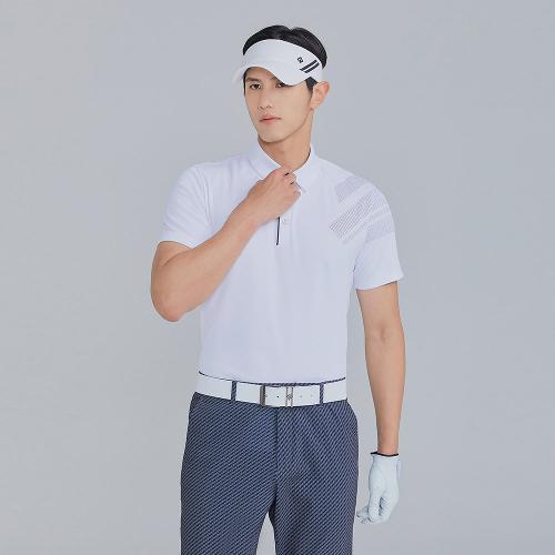 [레노마골프]21SS 남성 소매 포인트 카라 반팔 티셔츠 RMTYK2176-101_G