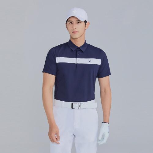 [레노마골프]21SS 남성 라인 포인트 카라 반팔 티셔츠 RMTYK2167-915_G