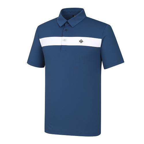 [레노마골프]21SS 남성 라인 포인트 카라 반팔 티셔츠 RMTYK2167-912_G