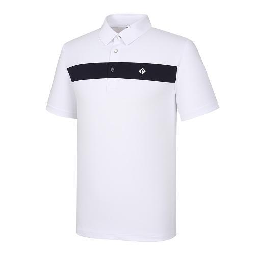 [레노마골프]21SS 남성 라인 포인트 카라 반팔 티셔츠 RMTYK2167-101_G