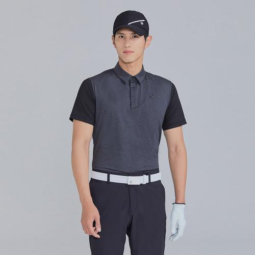 [레노마골프]21SS 남성 소매 배색 카라 반팔 티셔츠 RMTYK2162-192_G