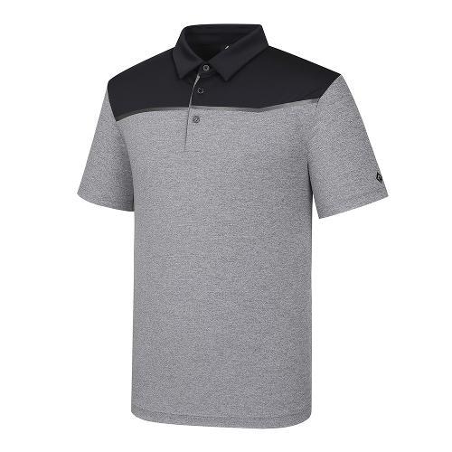 [레노마골프]21SS 남성 상단 컬러블록 카라 반팔 티셔츠 RMTYK2153-199_G