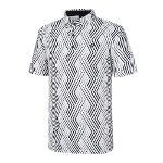 [레노마골프]21SS 남성 패턴 카라 반팔 티셔츠 RMTYK2109-101_G