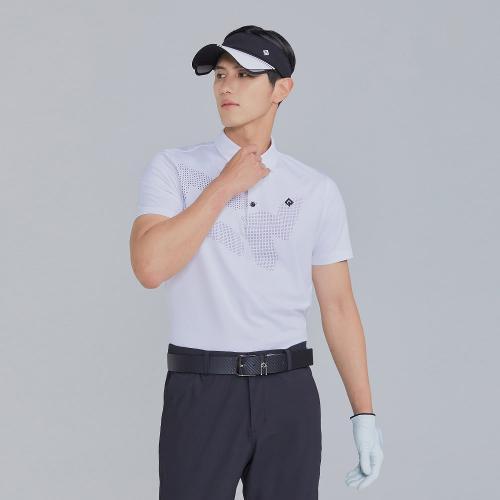 [레노마골프]21SS 남성 로고 포인트 카라 반팔 티셔츠 RMTYK2107-101_G