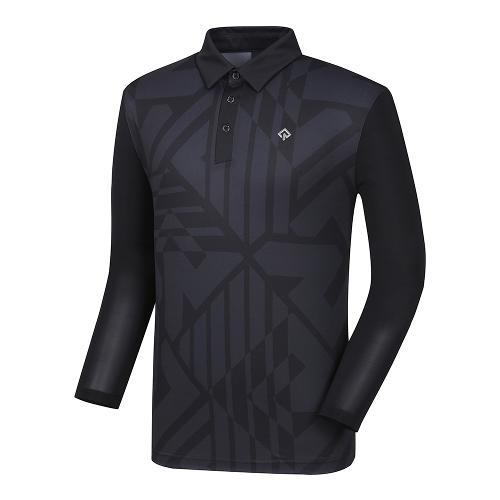 [레노마골프]21SS 남성 로고 패턴 냉감소매 카라 티셔츠 RMTYK2104-199_G