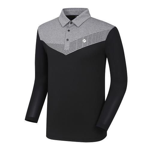[레노마골프]21SS 남성 배색 냉감소매 카라 티셔츠 RMTYK2103-199_G