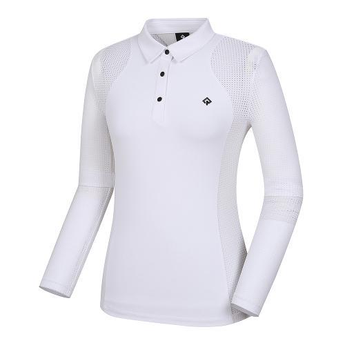 [레노마골프]21SS 여성 펀칭 솔리드 카라 티셔츠 RWTYK6109-101_G