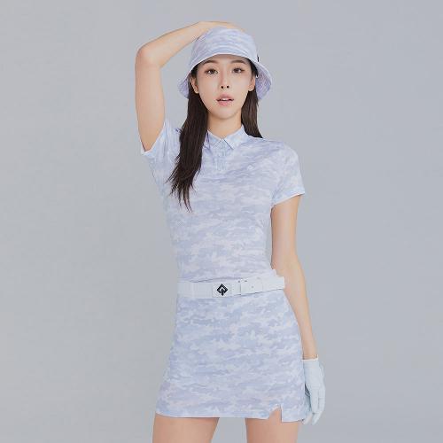[레노마골프]21SS 여성 카모플라쥬 카라 반팔 티셔츠 RWTYK6165-196_G