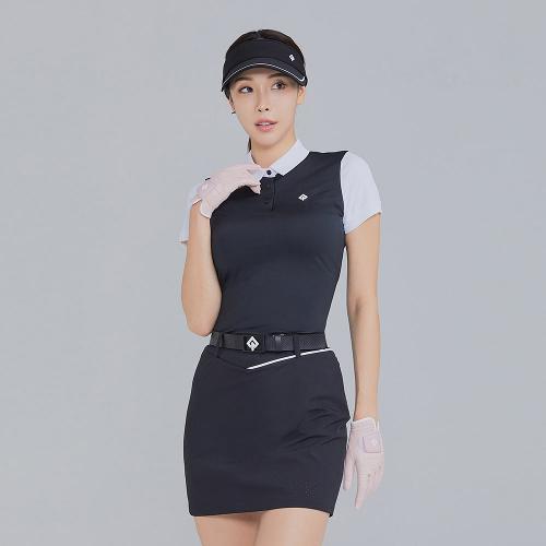 [레노마골프]21SS 여성 배색 카라 반팔 티셔츠 RWTYK6161-199_G