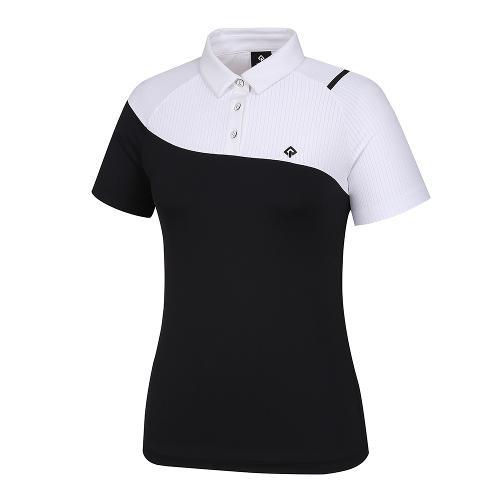 [레노마골프]21SS 여성 상단 배색 카라 반팔 티셔츠 RWTYK6159-199_G
