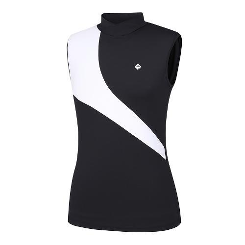 [레노마골프]21SS 여성 컬러 블록 하이넥 민소매 티셔츠 RWTSK6120-199_G