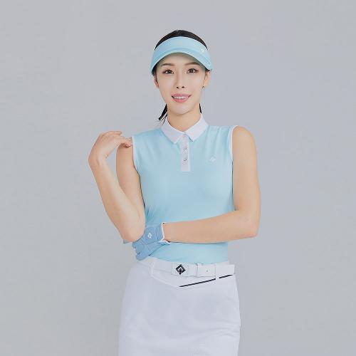 [레노마골프]21SS 여성 배색 카라 민소매 티셔츠 RWTSK6119-901_G