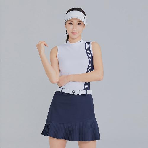 [레노마골프]21SS 여성 세로 배색 하이넥 민소매 티셔츠 RWTSK6116-101_G