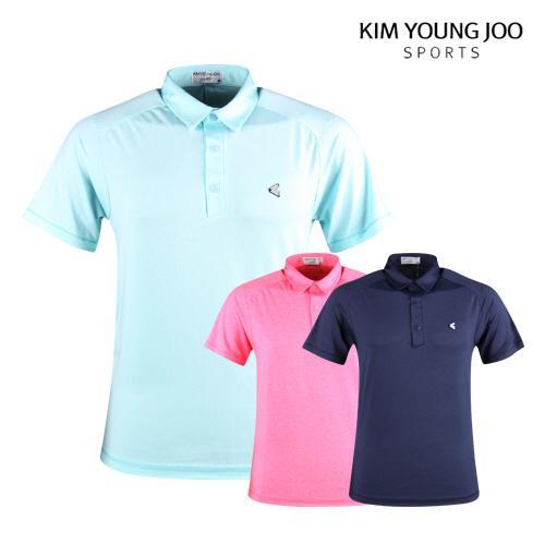 김영주스포츠 남성 여름 반팔 골프카라셔츠 LB1M411