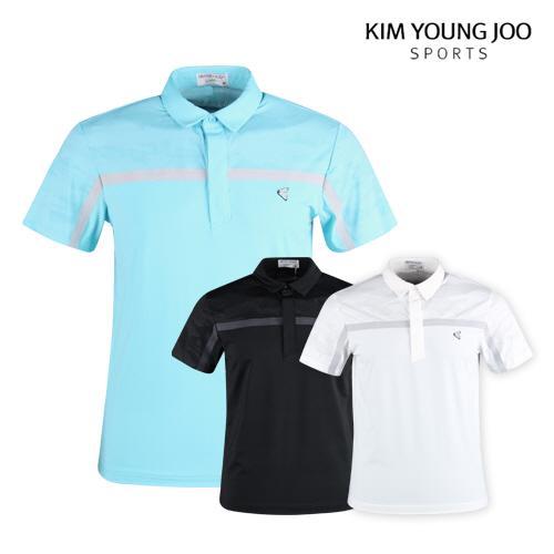 김영주스포츠 남성 여름 반팔 골프티셔츠 LB1M409