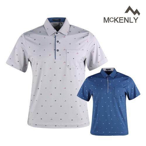 맥켄리 남성 반팔 쿨 아이스 골프카라셔츠 RM1M420