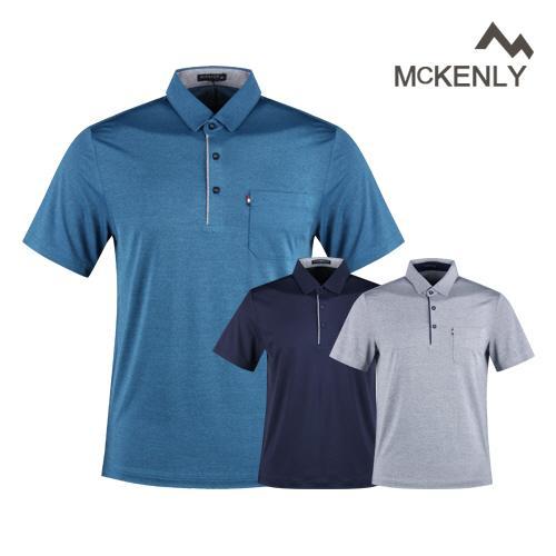 맥켄리 남성 반팔 쿨 아이스 골프카라셔츠 RM1M419
