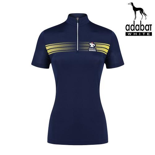 아다바트화이트 반팔티 264 NV 여성 골프 카라티셔츠