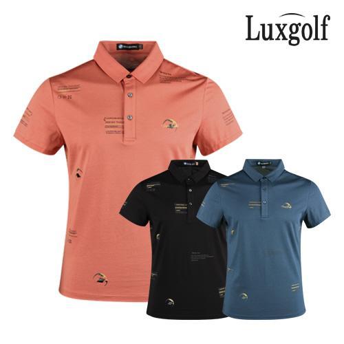 럭스골프 남성 패턴 반팔 골프 카라셔츠 OT1M407