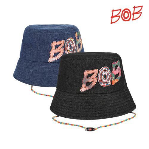 BOB 여성 로고 데님 골프 모자/버킷햇 - GBD2CP520