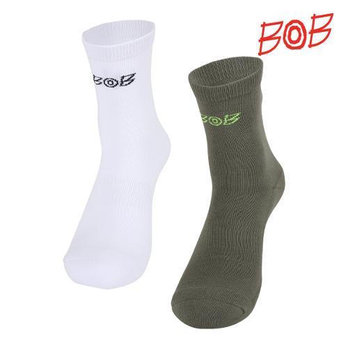 BOB 남성 자카드 배색 로고 양말 - GBD1AS030