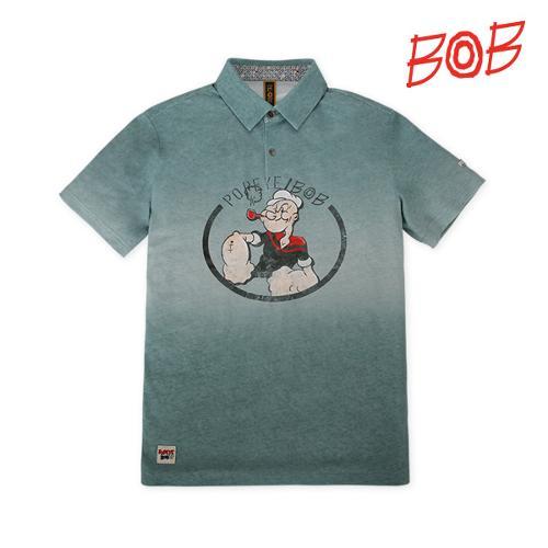 BOB 남성 뽀빠이로고 반팔 카라 티셔츠 - GBM1TS100_MT