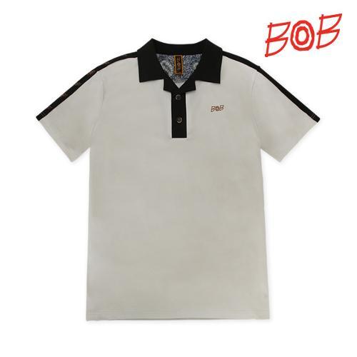 BOB 남성 로고테잎 반팔 카라 티셔츠 - GBM1TS060_LI