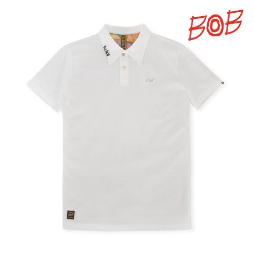 BOB 남성 반팔 카라 티셔츠 - GBM1TS050_WH