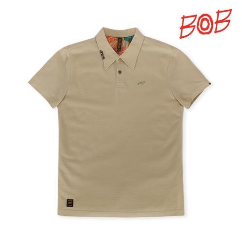 BOB 남성 반팔 카라 티셔츠 - GBM1TS050_BE