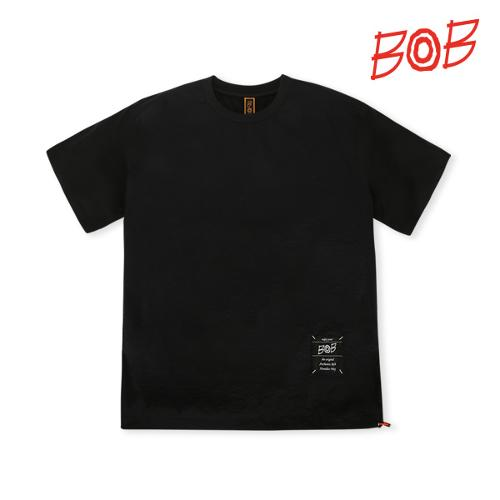 BOB 남성 우븐배색 반팔 골프티셔츠 - GBM1TR010_BK