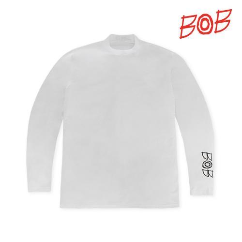 BOB 남성 레터링 UV차단 긴팔티셔츠 - GBM1TL010_WH