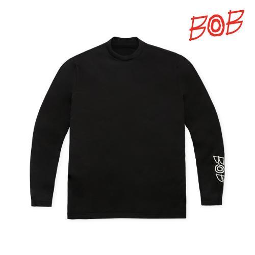 BOB 남성 레터링 UV차단 긴팔티셔츠 - GBM1TL010_BK