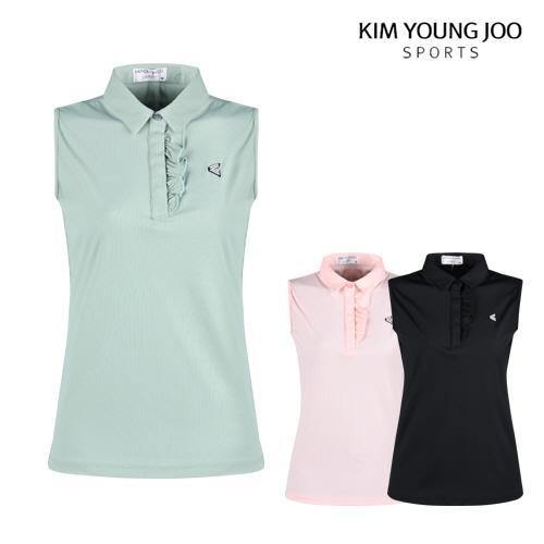 김영주스포츠 여성 민소매 골프 카라셔츠 LB1M502W
