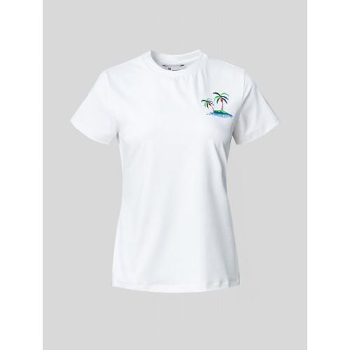 [빈폴골프] 여성 화이트 나난 원포인트 티셔츠 (BJ1542A211)