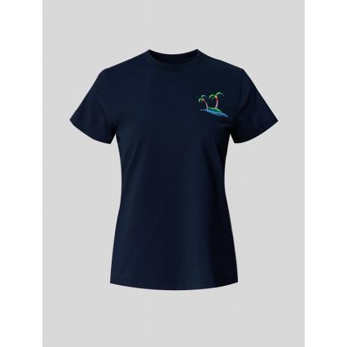 [빈폴골프] 여성 네이비 나난 원포인트 티셔츠 (BJ1542A21R)